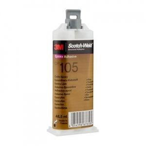 3M™ Scotch-Weld™ DP 105 čiré, 48,5ml, dvousložkové lepidlo na sklo, pružné spoje