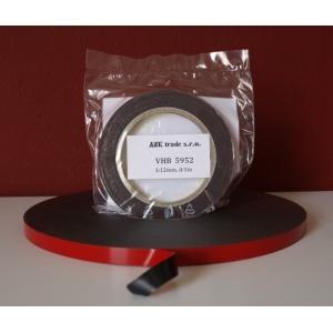 3M 5952 VHB oboustranně lepicí páska šedočerná návin 3m