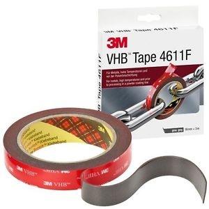 3M 4611 F VHB oboustranně lepící páska šedá návin 3m